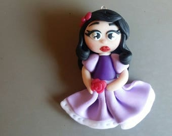 Charming Princess Chibi polymer clay
