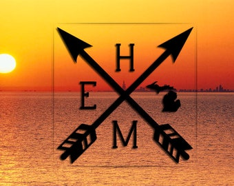 Michigan Home Arrow Decal