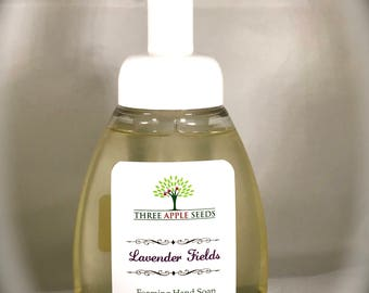 Lavender Hand Soap, Natural Foaming Hand Soap, Organic Lavender Foaming Hand Soap, Lavender Organic Hand Soap, Essential Oil Hand Soap,