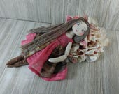 Custom doll - | Aldora | - 12'' jointed art doll -  ''Pink spotted hawk moth theme'' (2/2)