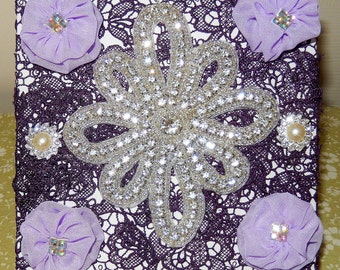Wall Pictures decorated with lace, appliques and gems