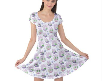Goomy Short Sleeve Dress - Sliggoo Dress Goodra Dress Goomy Dress Pokemon Dress Comiccon Dress Plus Size Dress Dragon Pokemon Evolutions