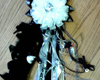Homecoming Mum, Smaller Version (14 inches), Deluxe Youth Mum, Homecoming Corsage, Mom's Mum
