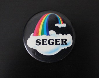"Vintage Rainbow ""SEGAR"" Button"