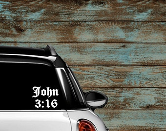 Bible Decal Etsy - Bible verse custom vinyl decals for car