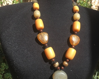 Indian Pressed Amber Necklace