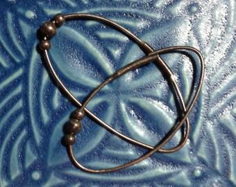 Sterling oval earrings, sterling silver earrings, oval hoop earrings, minimalist earrings