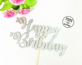 Happy birthday Cake Topper, Birthday Topper, Custom Cake Topper, Custom Name Cake Topper, Birthday Cupcake Topper,