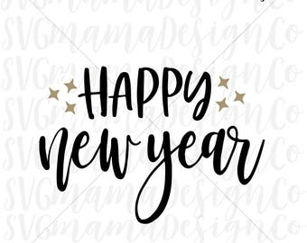Happy New Year SVG 2018 Vector Image Cut File for Cricut and Silhouette