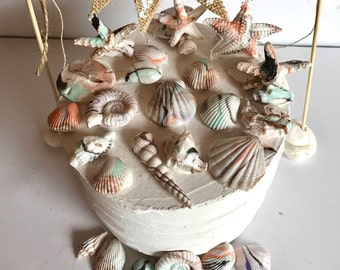 Fondant 30 Sea Shells Edible Sugar Cake Cupcake Topper Ocean Boho Beach Wedding Decoration