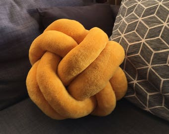 Yellow bow pillow