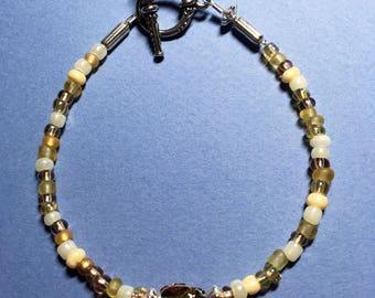 """8"""" Golden Swarovski Scarab Bracelet"""