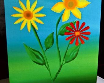 Ostara - Spring Equinox - Abstract Greeting Card