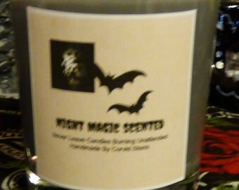 Night Magic Scented Candle, these were made on the Full Moon