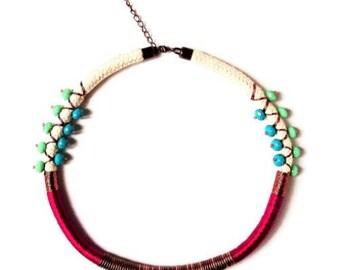 Purple adjustable amulet necklace