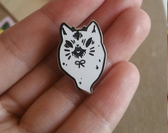 Demon Ghost Cat Enamel Pin!