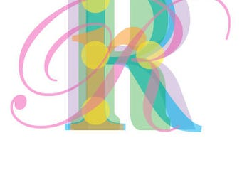 """Letter """"R"""" Graphic Poster Initial"""