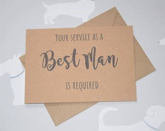 Will you be my Best Man card, Best Man box, Wedding party card, Wedding stationary, Will you be my card, Wedding party, Best Man proposal,