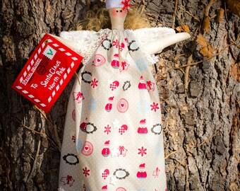 Handmade Doll / Christmas Doll / Soft Doll / Cute / Tilda / White