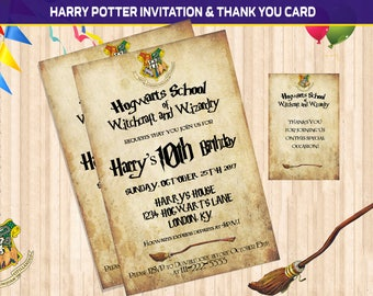 Harry Potter Invite Etsy