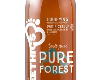 Pure Forest Massage and Body Oil - Natural and Organic with Hemp Seed Oil - Purifying 2OZ