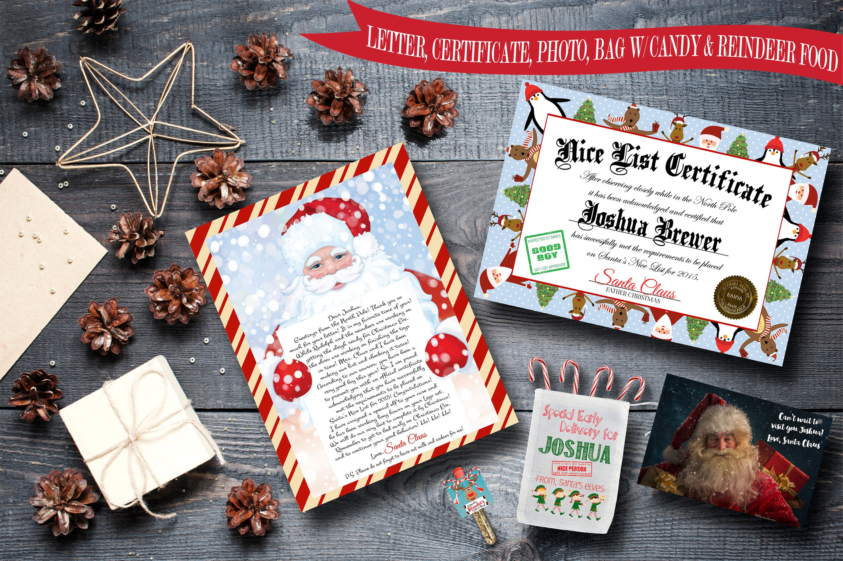 Christmas package from santa claus letter from santa nice list christmas package from santa claus letter from santa nice list certificate elf gift spiritdancerdesigns Image collections