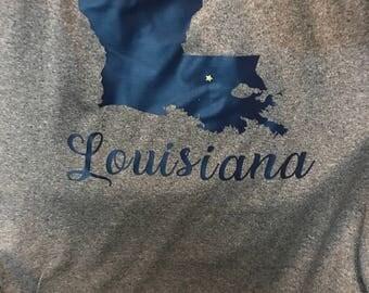 Louisiana T-Shirt with Star