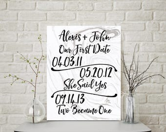Anniversary Gift, Wedding Decor, Wedding Sign, Personalized Sign, Anniversary Gifts for Women, Bridal shower Gift, Husband Gift, Wedding
