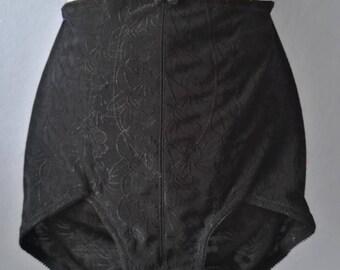 90s unworn panty! new old stock! new true vintage 75 black pattern lingerie lingerie lingerie figure shaping
