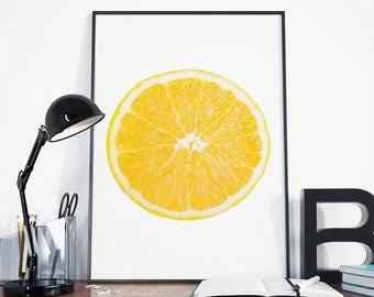 Citrus print, Kitchen print, lemon print, fruit print, citrus poster, kitchen decor, kitchen art, kitchen poster, kitchen wall art, orange