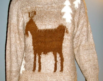 Vintage, alpaca sweater, pullover, size XL, made in Bolivia
