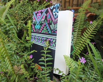 CK7 Handmade Notebook with a traditional Hmong (hill tribe) pattern from Thailand