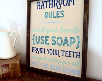 Bathroom Decor - Bathroom Wall Decor - Bathroom Decor - Bathroom Sign - Bathroom Art - Bathroom Wall Art - Bathroom Rules Sign -