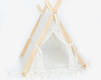 White Lace Pet Tent Teepee