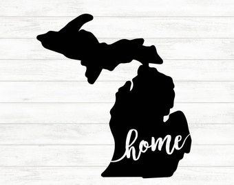 Michigan Decal - Michigan Car Decal - Michigan Bumper Sticker - Phone Sticker - Detroit Decal - Michigan State Decal - Michigan Home Decal