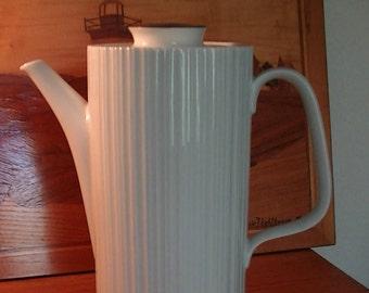 Mid-century Modern, Rosenthal Fine China Coffee Pot, Germany, Secunda, Studio Line Variation