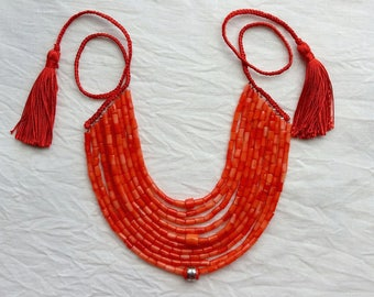 Antique coral necklace Red Coral Beads natural Coral Necklace Collares Etnicos Coral Jewelry Ukrainian Coral Necklace Beaded Real Coral 10