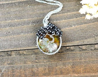 Rustic Tree Necklace, Rustic Tree Pendant, Tree of Life Amulet, Tree Talisman, Wrapped Tree Jewelry, Wrapped Tree Amulet, Tree Symbol Amulet