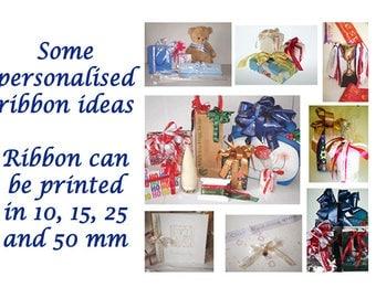 Personalised Ribbon, Custom Ribbon, Weddings, Birthdays, Printed Ribbon, Favour Ribbon, Corporate Ribbon, Gift Packaging, FREE SHIPPING UK