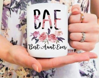 BAE MUG | Aunt Mug, Best Aunt Ever, BAE Aunt Mug, Best Aunt Ever Mug, Auntie Mug, Mugs for Aunts, Aunt, Aunt Gifts, New Aunt Mug, Funny Aunt