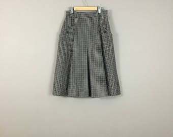 70's Plaid Wool Skirt