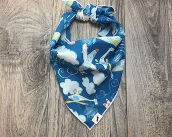 Airplane Show Dog Bandana, Dog Bandana, Airplane Dog Bandana, Tie on Bandana, Dog Scarf