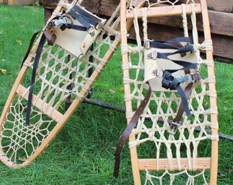 Vintage LL Bean Snow Shoes All Wooden Snow Shoes From Freeport, Maine