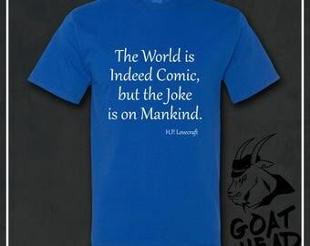 Philosophy Tshirt, HP Lovecraft, Lovecraft, Miskatonic University, Cthulhu, Edgar Allan Poe, Poe, Philosophy Gift, Gift for Men, T-shirt