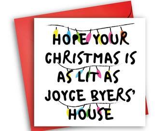 Stranger Things Christmas Card | Joyce Byers | Lit Christmas