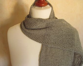 Scarf / shawl cotton scarf / summer / ITO / steel gray