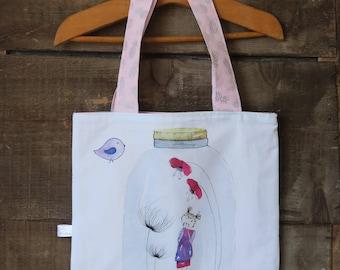 Small cotton bag, small bag girl, to make as great!