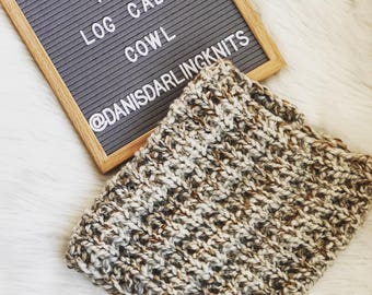 The Log Cabin Cowl-Knitted Cowl-Thick Cowl-Neck warmer