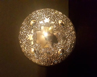Silver Antique Mirror, hand mirror, Towle, perfect for scrying or wedding gift