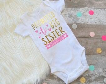 Big sister big sister shirt promoted to big sister bodysuit personalized big sister shirt big sister tee promoted to big sister